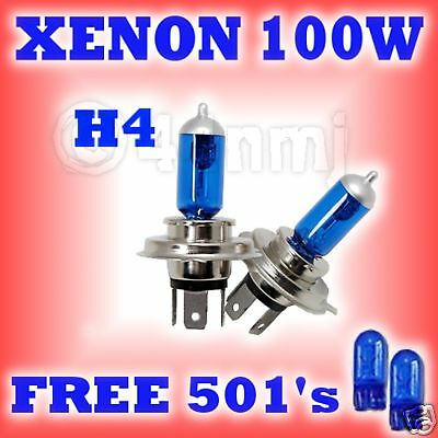 Xenon Super White 100w 12v Headlight Bulbs Honda Civic Mkvi Ej Ek H4 50 T10 W5w