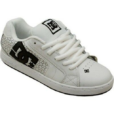 DC - NET SE Womens Shoes (NEW) White & Black  STARS Skate Footwear FREE SHIPPING