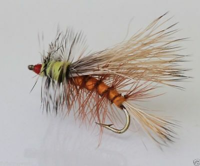 12 x STIMULATOR Orange TROUT FLIES for fly fishing rods