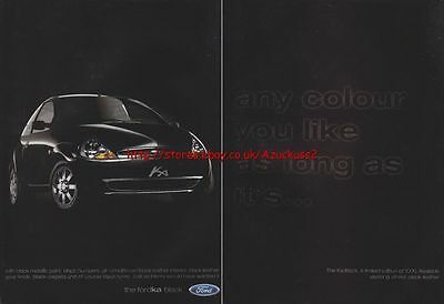Ford KA Black Car 1999 Magazine Advert #41