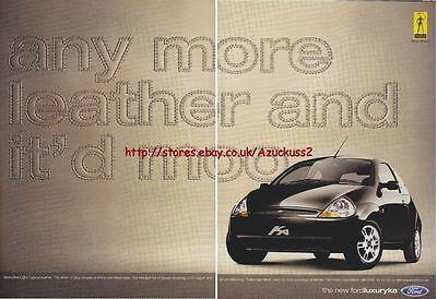 Ford Luxury KA Car 2000 Magazine Advert #1278