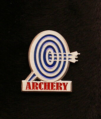 Empire Pewter Blue Faced Target Archery Pin (A10)
