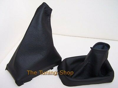 For Vauxhall Tigra 04-09 Black Leather Gear Handbrake Gaiter Gaitor Set Covers