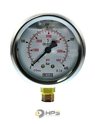 "Glycerin-Manometer Crni-S 0 Bis 400 Bar 1/4"" Ua 63 Mm"