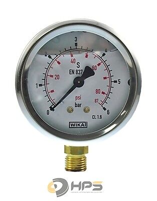 "Glycerin-Manometer Crni-S 0 Bis 6 Bar 1/4"" Ua 63 Mm"