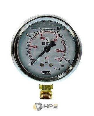 "Glycerin-Manometer Crni-S 0 Bis 160 Bar 1/4"" Ua 63 Mm"