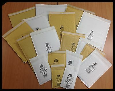 WHITE / GOLD GENUINE JIFFY PADDED BAGS / ENVELOPES 'ALL SIZES' 24h DEL