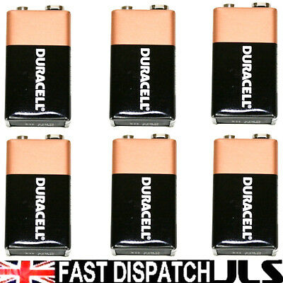 6 x Duracell oem 9V Batteries  MN1604 6LR61 PP3 Battery