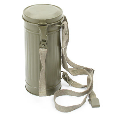 German WWII M38 Gas Mask Can with Carry Straps