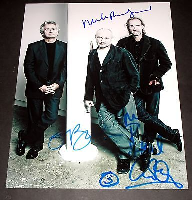 """Genesis Pp Signed 10""""x8"""" Photo Repro Phil Collins"""