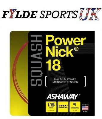 Ashaway PowerNick 18 - Squash String Set 1.15mm
