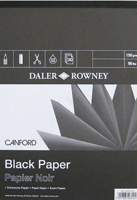 Daler Rowney Canford Pad - Black 150gsm Paper - A3