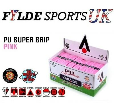 24 x Pink Karakal PU Super Grips - ALL PINK!