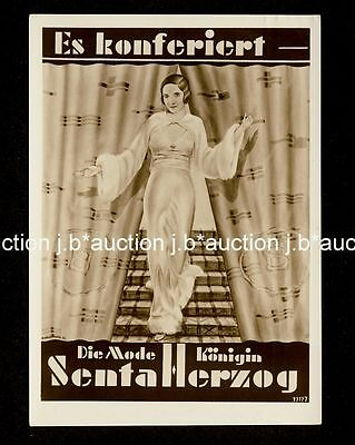 Art Deco Mode SENTA HERZOG Fashion Show * Vintage RPPC