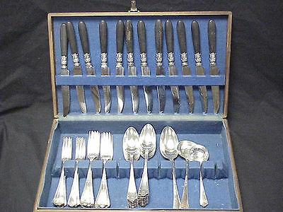 "55pc Puiforcat France ""Gothic"" Sterling Silver Flatware"