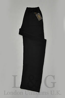 Black chef trousers 100% cotton drill QUALITY L&G