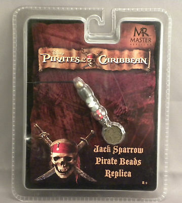 Jack Sparrow Pirates of the Caribbean Beads Replica NEW