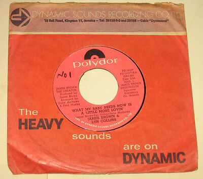 """James Brown Lyn Collins 7"""" 45 What My Baby SOUL HEAR ♫"""