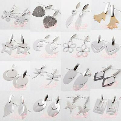 25 Pair Stainless Steel Mix Style Thin Flakes Earrings1