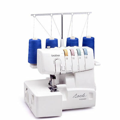 Brother 1034D 3/4 Lay-In Thread Sewing Serger  Machine (New In Box)