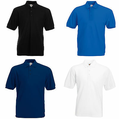2 Fruit Of The Loom Polo Shirts 4 Colours S-Xxl - New!!