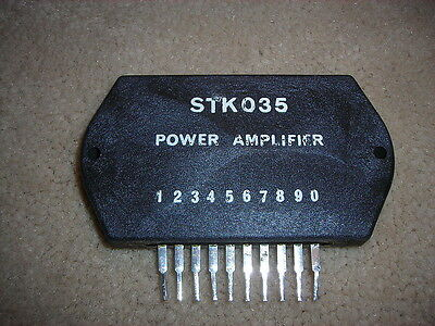 "STK035  ""Original"" SANYO  Power Amplifier 10P SIP IC 30W 1 pc"