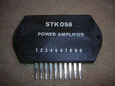 "STK058  SANYO ""Original"" Power Amplifier 10P SIP  IC 24W"