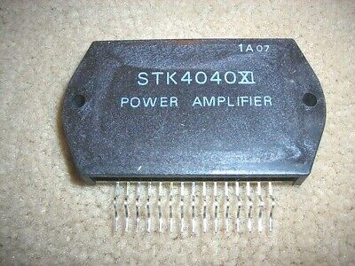 "STK4040XI ""Original"" SANYO Power Amplifier  IC  15P SIP  2 pcs"