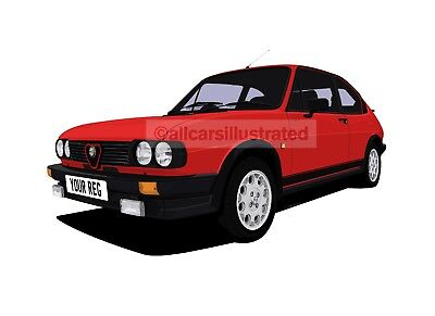 Alfa Romeo Alfasud Car Art Print. Personalise It!