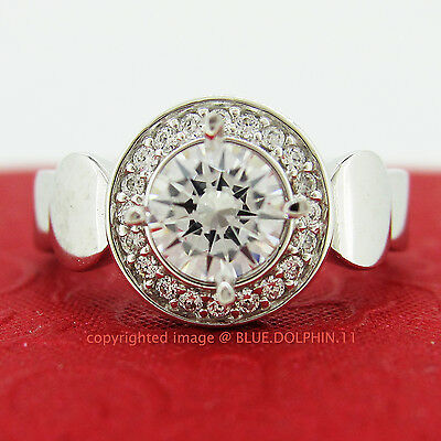 Genuine Solid 9ct White Gold Engagement Wedding Rings