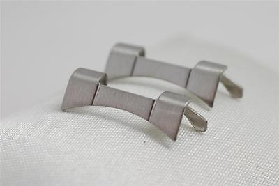 2 x 18mm Stainless Steel Watch Bracelet Curved End / Curved Ends/ Ends LBS 1C