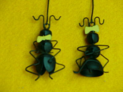 Collect-A-Bells Ants-Boy & Girl-Yellow Bow & Bowtie-Jingle