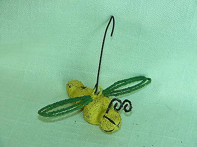 Collect-A-Bells Dragonfly-Yellow-Metal Jingles-Garden, Plants