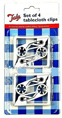 4 X Quality Tala Spring Loaded Table Cloth Cover Clips