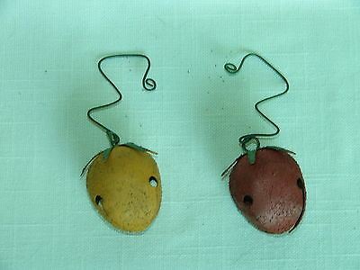 Collect-A-Bells Yellow & Red Tomato/Tomatoes with Curley Hanger-Jingle-Garden