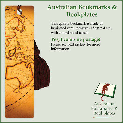 Australia map bookmark with tassel
