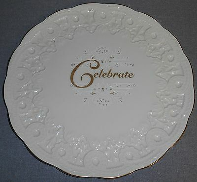 Lenox CELEBRATE - CELEBRATION COLLECTION Embossed CAKE PLATE