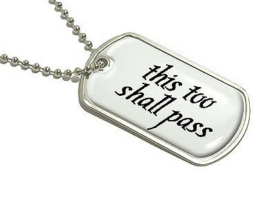 BFS2383 This too shall pass Stainless Steel Charms Quantity Options