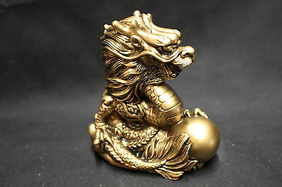 NEW Dragon Statue Brass colour finish 88mm (AN003BS)