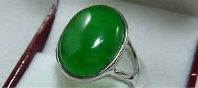 Beautiful Green jade lady's ring size 7 8 9
