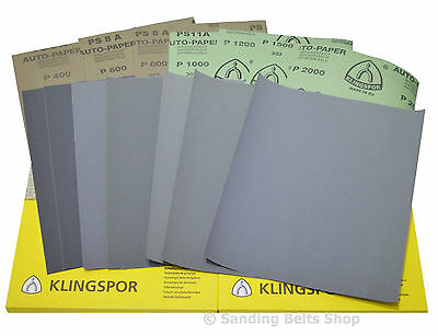 WET AND DRY SANDPAPER MIXED GRIT PACK OF 10, FREE p&p,  MIXED OR SAME GRIT
