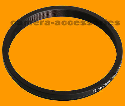 77mm to 72mm 77-72 Stepping Step Down Filter Ring Adapter 77-72mm 77mm-72mm