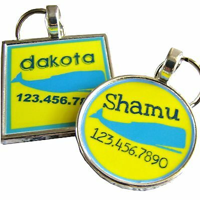 Yellow Whale Pet ID Tag