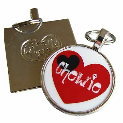 Red and Black Heart ID Tag