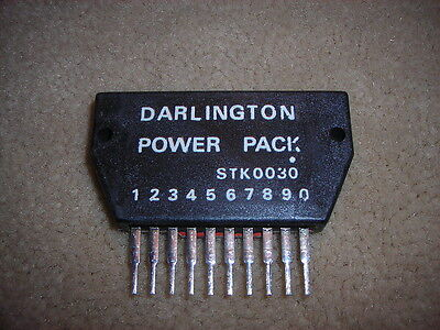 "STK0030 ""Original"" SANYO  Darlington Amplifier Power PACK 10P SIP 1 PC"