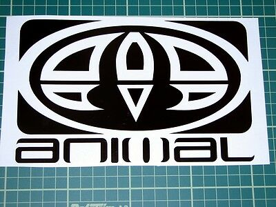 30cm WIDE ANIMAL SURF LOGO DECAL CAR STICKER BOARD SKATE SKI GRAPHIC 12 COLOURS