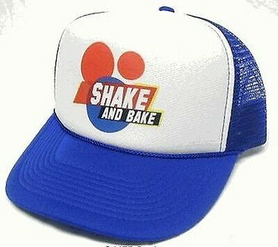 e21193d93a47d Talladega nights Shake and Bake Trucker Hat Mesh Hat Royal blue Snap Back  Hat