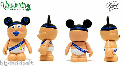 "New Disney Vinylmation Park Holiday 1 Series 2010 NEW YEARS BABY 3"" Figure"