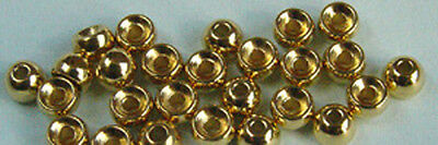25 x BILLE TUNGSTENE anodisé TUNGSTEN BEAD anodised 3.5mm Fly tying bead perle