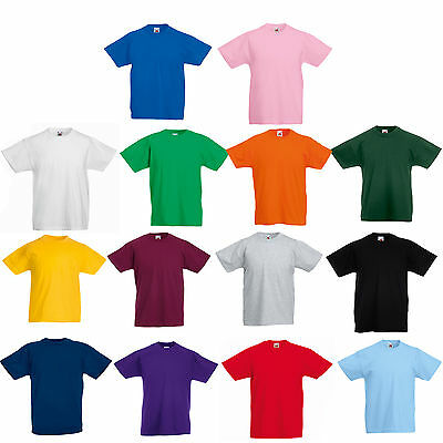 Fruit Of The Loom Plain Childs T Shirt All Sizes